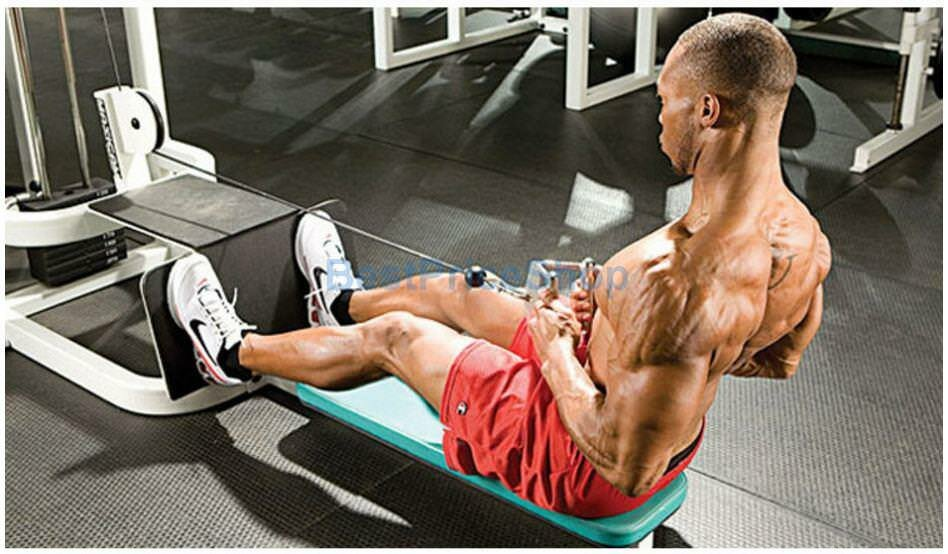 Seated block pull options and exercise routines