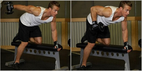 The exercise below is one of the most effective for triceps