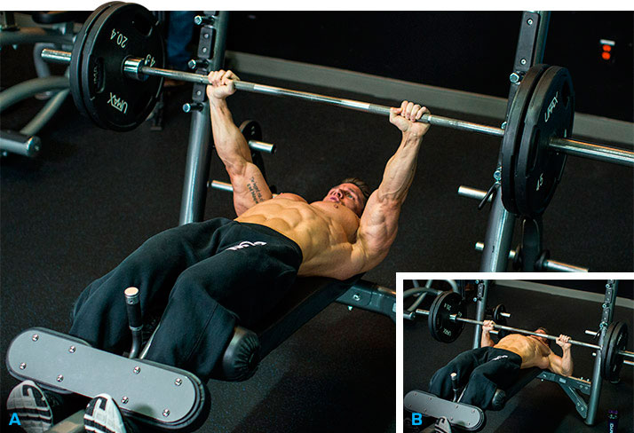The technique of performing a bench press on a bench upside down